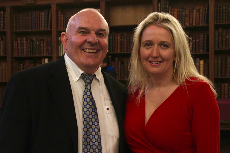 Roy Crowne with Emma Buchan, Archbishops' Evangelism Task Group Project Leader